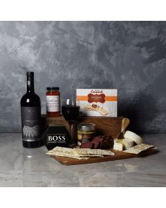 Start Spreading the News Wine & Cheese Gift Basket
