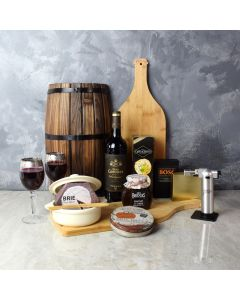 Lambton Brie Baker Basket, gift baskets, wine gift baskets, gourmet gift baskets, wine & cheese gift baskets