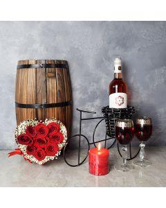 Morningside ValentineâDay Basket, wine gift baskets, floral gift baskets, Valentine's Day gifts, gift baskets, romance