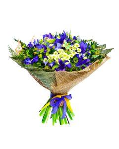 Luminous Lavender Iris Bouquet