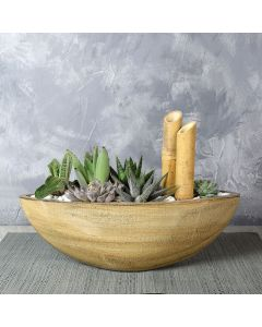 Moss Park Succulent Boat Garden, floral gift baskets, gift baskets, succulent gift baskets