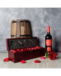 ValentineâWine Box, wine gift baskets, Valentine's Day gifts, gift baskets, romance