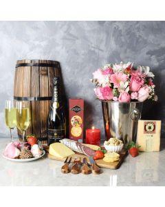 Davisville ValentineâBasket, champagne gift baskets, gourmet gift baskets, Valentine's Day gifts, gift baskets, romance