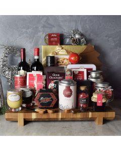 Opulent Christmas Wine & Chocolate Gift Basket