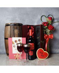 Leaside ValentineâDay Gift Basket, wine gift baskets, gourmet gift baskets, gift baskets, Valentine's Day gift baskets