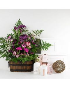 Gardenia Floral Bouquet Gift Set