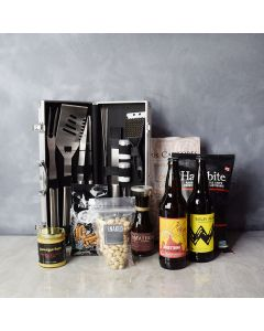 Smokin' BBQ Grill Gift Set with Beer, gift baskets, gourmet gifts, gifts