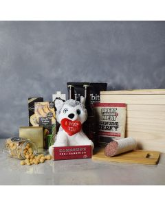 Deer Park Beer & Snacks Crate, beer gift baskets, floral gift baskets, gourmet gift baskets, gift baskets, Valentine's Day gift baskets