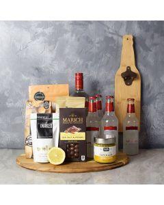 Coolers & Crunch Liquor Basket