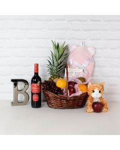 Happy Mom Gift Basket with Wine, baby gift baskets, wine gift baskets
