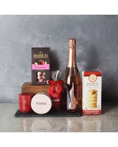 Bubbly & Sweet ValentineâGift Basket, champagne gift baskets, chocolate gift baskets, Valentine's Day gifts, gift baskets, romance