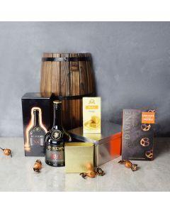 Gourmet Fudge & Liquor Gift Set, liquor gift baskets, gourmet gifts, gifts