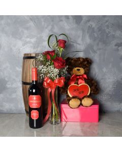 Carleton ValentineâDay Basket, wine gift baskets, gourmet gift baskets, Valentine's Day gifts, gift baskets, romance