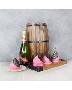 CHOCOLATE PEARS WITH CHAMPAGNE GIFT SET