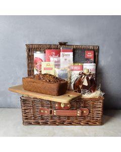 Banana Bread Picnic Gift Basket, gourmet gift baskets, gourmet gifts, gifts