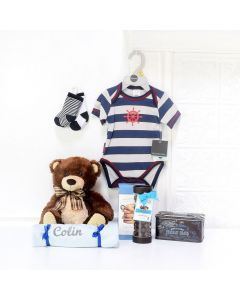 BABYâFIRST WARDROBE GIFT SET, baby boy gift basket, welcome home baby gifts, new parent gifts