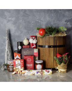 Rustic Holiday Barrel