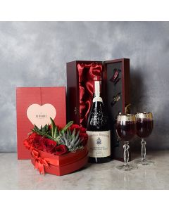 Richview ValentineâDay Wine Basket, wine gift baskets, gourmet gift baskets, gift baskets, Valentine's Day gift baskets