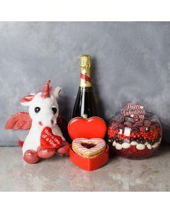 Brampton ValentineâDay Basket, champagne gift baskets, gourmet gift baskets, gift baskets, Valentine's Day gift baskets