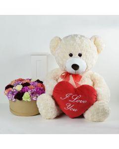 """""""I Love You"""" Flower & Plush Gift"""