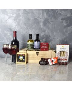 Deluxe Wine & Cheese Snack Crate