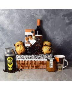 Snack Array & Wine Gift Basket