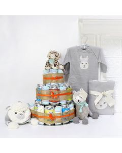 Huggies & Chuggies Gift Set, Unisex Baby Gifts, Gifts For Baby, New Parents, Diaper & Beer Gifts