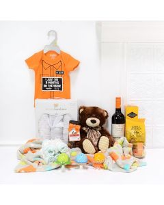 Deluxe Baby Bear Celebration Set, baby gift baskets, baby boy, baby gift, new parent, baby, wine gift basket