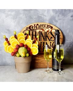 Turkey Edible Arrangement With Champagne