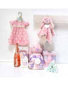 Bunny Girl Celebration Set, baby gift baskets, baby boy, baby gift, new parent, baby