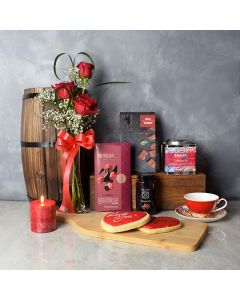 Regal Heights ValentineâDay Gift Basket, gourmet gift baskets, floral gift baskets, Valentine's Day gifts, gift baskets, romance