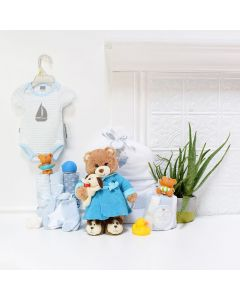 Baby BoyâBath Time Fun Set, baby gift baskets, baby boy, baby gift, new parent, baby, champagne
