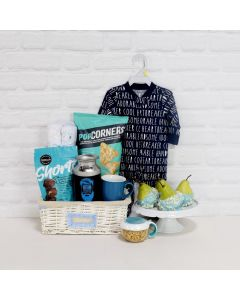 BOYâBIRTH CELEBRATION GIFT BASKET, baby boy gift basket,, welcome home baby gifts, new parent gifts