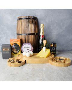 Cheese & Champagne Celebration Gift Set, champagne gift baskets, gourmet gift baskets, gift baskets, gourmet