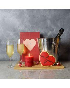 ValentineâDay Tea & Sweets Basket, gourmet gift baskets, champagne gift baskets, Valentine's Day gifts, gift baskets, romance