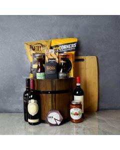 Wine Barrel Gift Basket