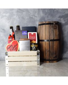 Distillery ValentineâDay Gift Crate, beer gift crates, gourmet gift crates, Valentine's Day gifts, gift baskets, romance