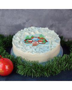 Penguins At Play Holiday Cake