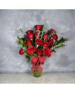 Rosedale ValentineâDay Vase, floral gift baskets, Valentine's Day gifts, gift baskets, romance