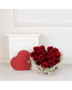 ValentineâDay Rose Bouquet, floral gift baskets, Valentine's Day gifts, gift baskets, romance