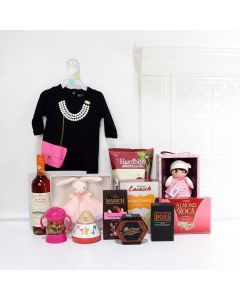 Mommy & Daughter Luxury Gift Set, baby gift baskets, baby boy, baby gift, new parent, baby, champagne