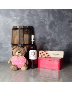 Niagara ValentineâDay Gift Basket, wine gift baskets, gourmet gift baskets, Valentine's Day gifts, gift baskets, romance