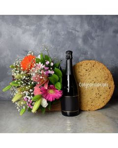 Congratulations Cookie & Champagne Gift Set