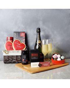 Annex ValentineâDay Gift Basket, champagne gift baskets, gourmet gift baskets, gift baskets, Valentine's Day gift baskets