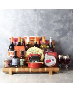 Opulent Wine Gift Basket