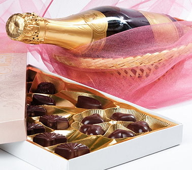 Champagne & Chocolate Gift Baskets Delivered to LA